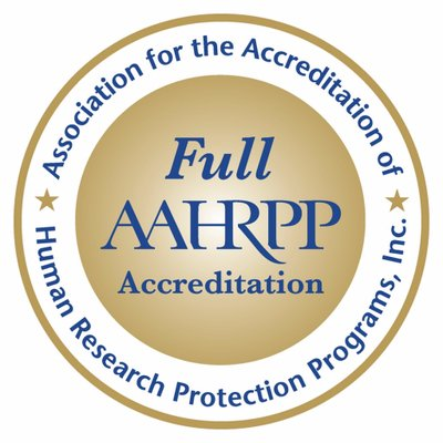 Full AAHRPP Accreditation